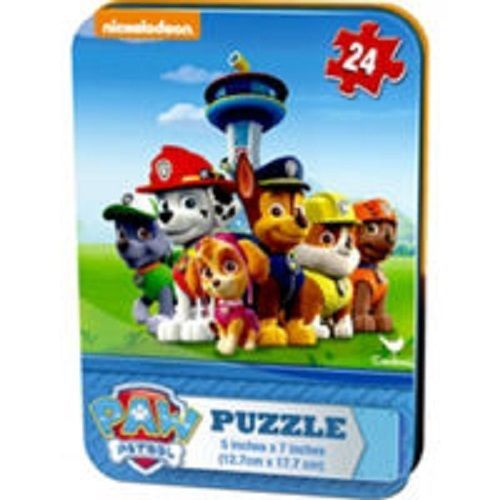 "Nickelodeon Paw Patrol 24pc Mini Puzzle & Tin New/Sealed!  Party Prize!!  5x7"" #Nickelodeon"