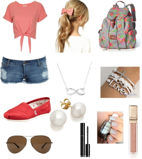 """""""summer vacation outfit"""" by megan-nyce ❤ liked on Polyvore"""