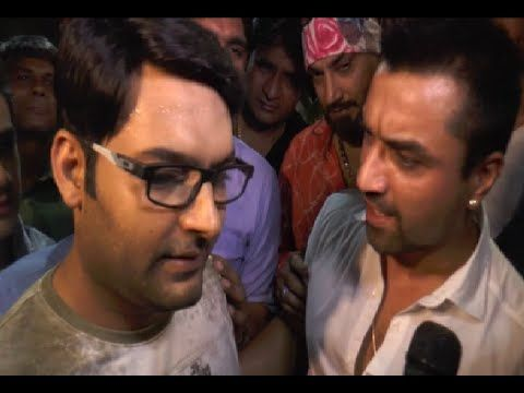 Kapil Sharma and Ajaz Khan's verbal fight and argument caught on camera.