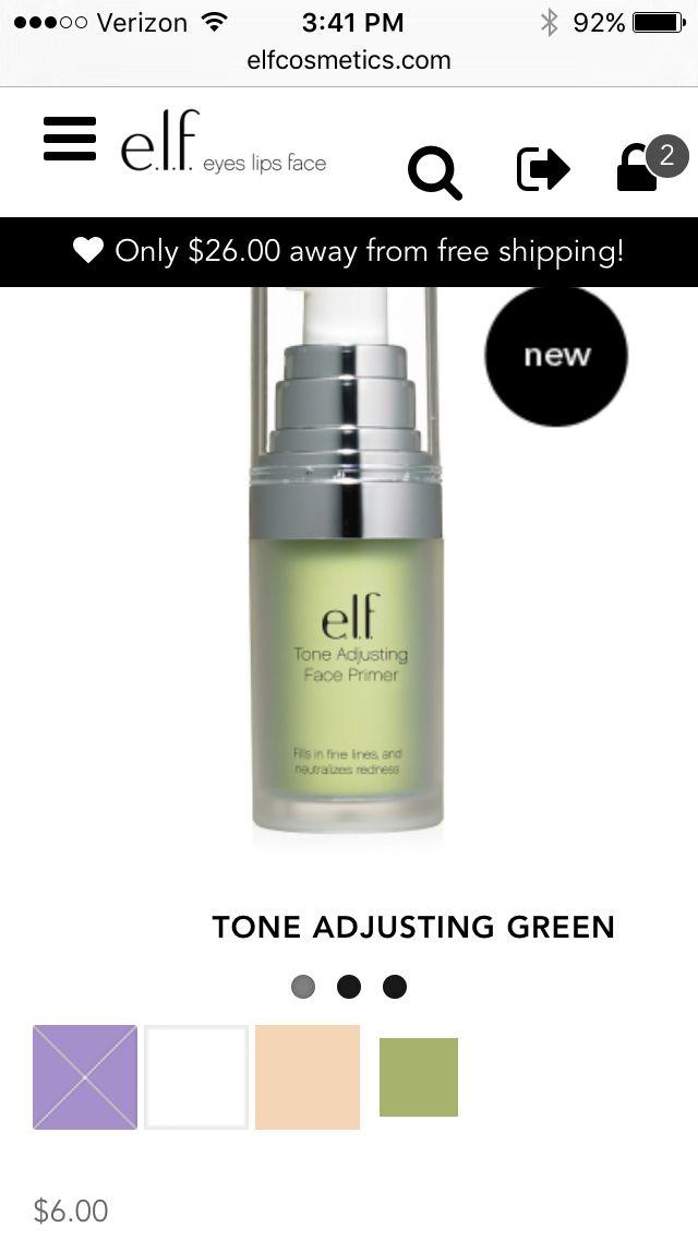 Green tone correcting face primer $6.00 at Elf cosmetics