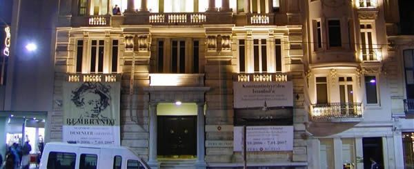 """Inaugurated on 8 June 2005, the Pera Museum is a private museum founded by the Suna and İnan Kıraç Foundation with the aim of offering a broad range of high-quality culture and arts services. The Museum is located in the historic building of the former Hotel Bristol in Tepebaşı and shares its three permanent collections """"Orientalist Paintings"""", """"Anatolian Weights and Measures"""", and """"Kütahya Tiles and Ceramics,"""" as well as the values that these collections represent, with the public through…"""