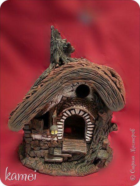 Мастер-класс Поделка изделие Скульптура Лепка Роспись мой сказочный домик Гипс Краска Тесто соленое фото 1
