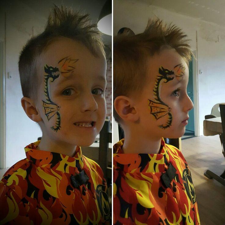 Face paint dragon