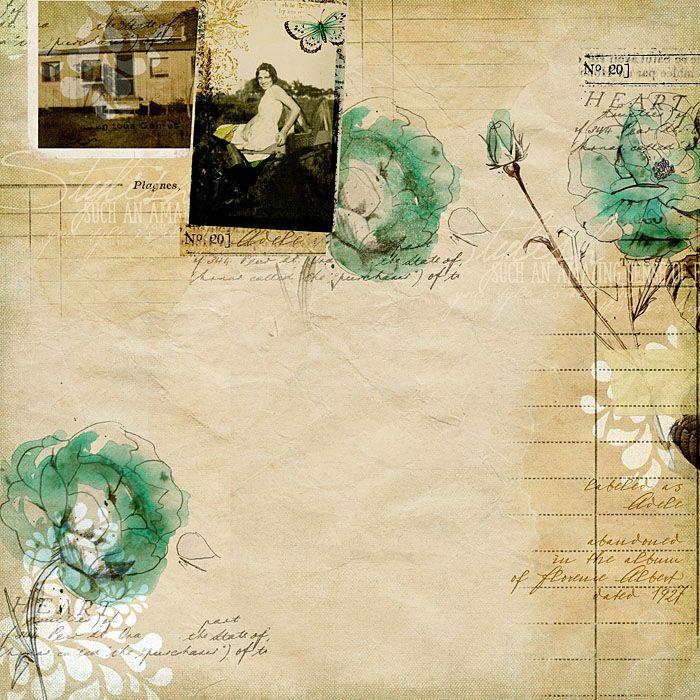 #vintage but not my #heritage #scrapbook page by Katie Pertiet at DesignerDigitals.com