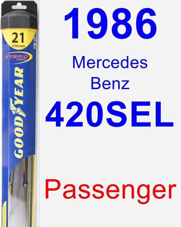Passenger Wiper Blade for 1986 Mercedes-Benz 420SEL - Hybrid
