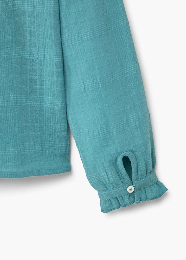Ruffle cotton blouse | MANGO KIDS