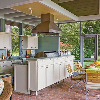 canning kitchen design. Outdoor Kitchen  The brick paved floor is pitched slightly in all directions so it 14 best Canning kitchen images on Pinterest Homes Summer