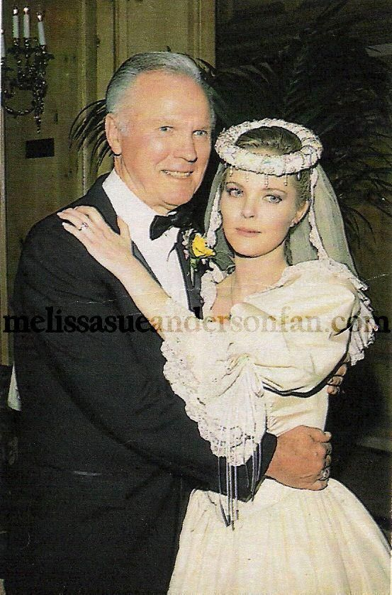 Melissa and her father jim anderson little house on the for Laura ingalls wilder wedding dress