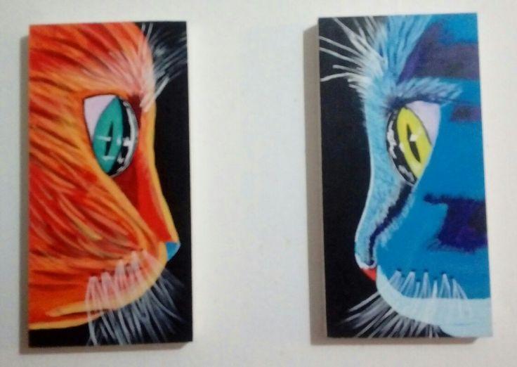 Logre pintar estos gatos!!!