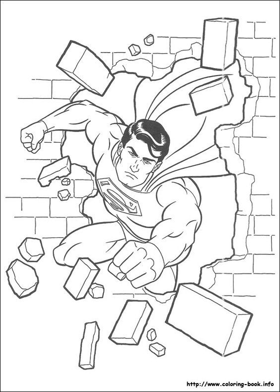Free Superman Coloring Pages - http://www.great-kids-birthday-parties.com/superhero-printables.html: