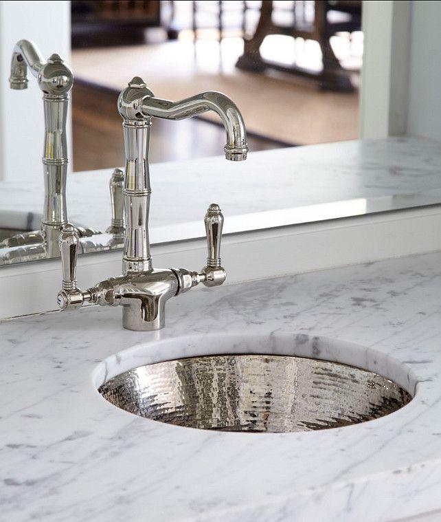 Hammered Nickel Prep Sink.