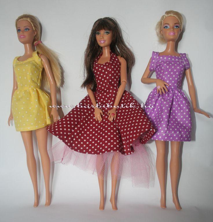 Pöttyös az igazi. Nyári Barbie  ruhák / Summer Barbie dresses. http://www.barbibutik.hu/termek/barbie-ruha-keszito-szett-8-letoltheto/