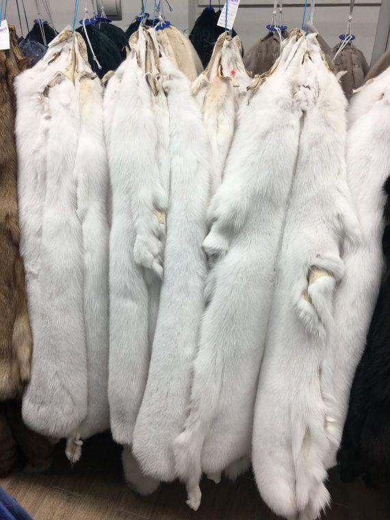 white Fox fur pelts/skins by skffurs on Etsy