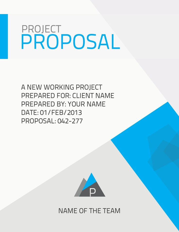 25 best ideas about Business Proposal Template – Company Proposal Template