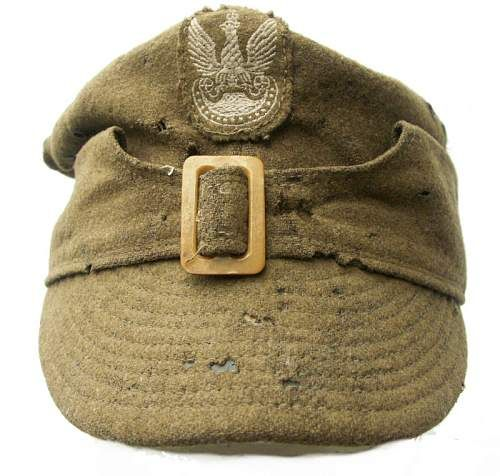 Click image for larger version.  Name:Wz.37 Polish Field Cap (Pre-1939) $794 US.jpg Views:481 Size:108.3 KB ID:160690