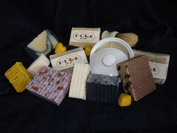 A variety of soaps from Cherrie's Pure Soap. Love them all, but then again, I am biased.
