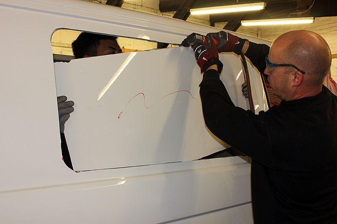 DIY Campervan Conversion | Do-It-Yourself Windows | How To Cut a Hole in Your Panel Van | Van Life | www.practicalmotorhome.com