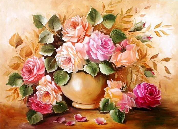 Схема вышивки «Букет роз» - Вышивка крестом