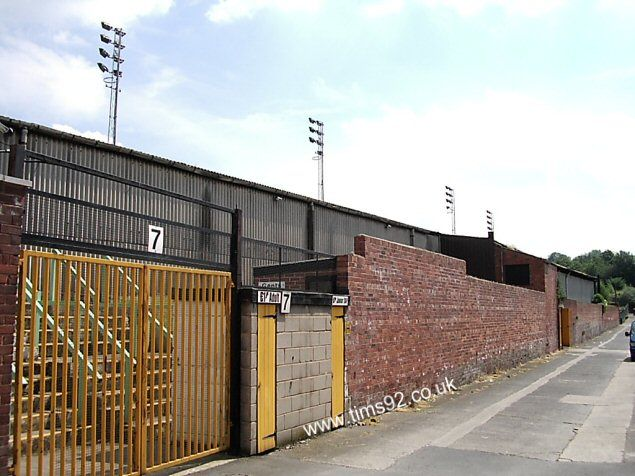 Castleford Tigers, Wheldon Road. The wall I used to play football against