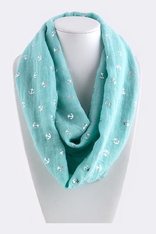 Nautical Infinity Scarf in Turquoise | Awesome Selection of Chic Fashion Jewelry | Emma Stine Limited