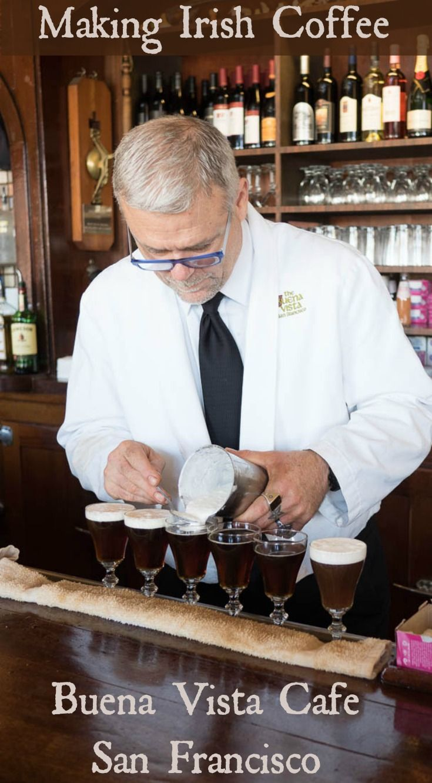 Making an Irish Coffee at Buena Vista Cafe in San Francisco