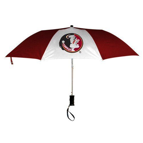 "NCAA Florida State Seminoles (FSU) 42"" Folding Umbrella by Football Fanatics. $17.95. Florida State Seminoles (FSU) 42"" Folding Umbrella42"" diameterOfficially licensed collegiate productEight panelsMetal shaftAuto open with plastic handleAuto open with plastic handleMetal shaftEight panels42"" diameterOfficially licensed collegiate product"