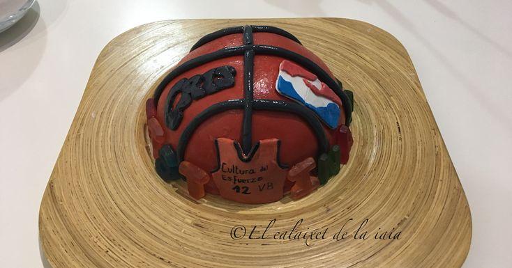 Tarta pelota basquet para cumpleaños, paso a paso, foto a foto