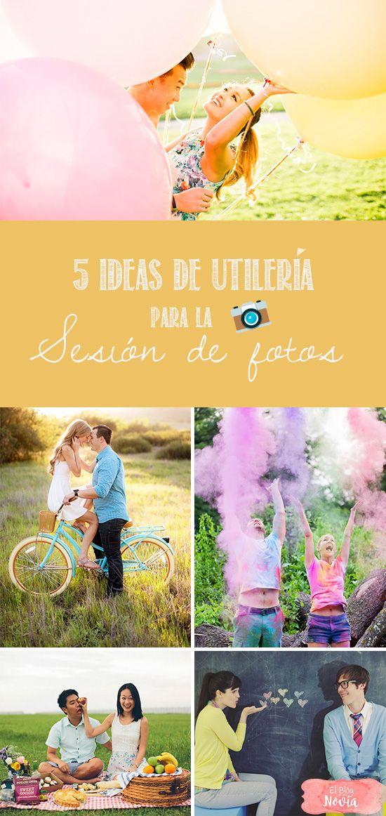 5 Ideas de utilería para Sesión de Fotos en Pareja | El Blog de una Novia | #fotos #novios