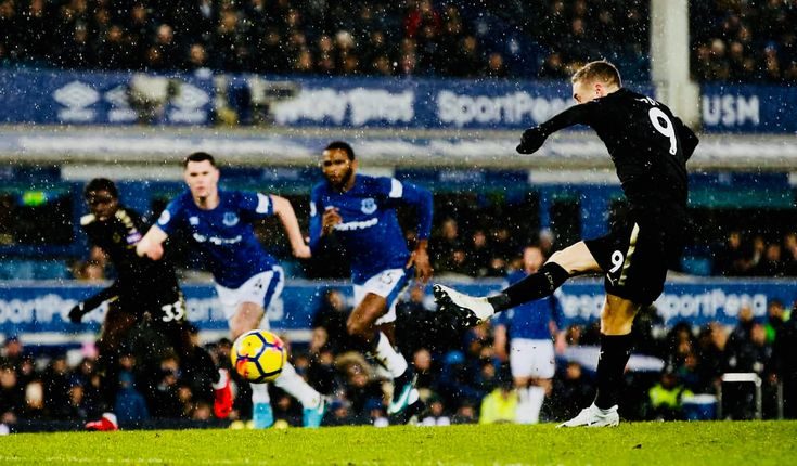Week 25 : Everton 2-1 Leicester City - James Vardy(Photo credit : Andrew Yates/Reuters)