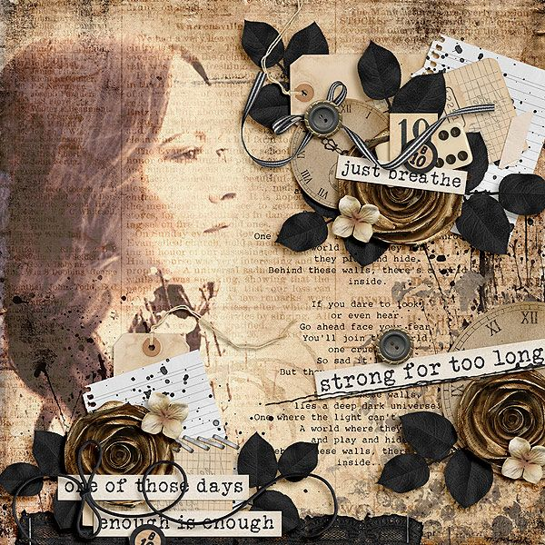 Dark Days Bundle by Litabells Designs http://shop.scrapbookgraphics.com/Dark-Days-Bundle.html  Kit, Got Gesso V1 and Kinda Edgy V1