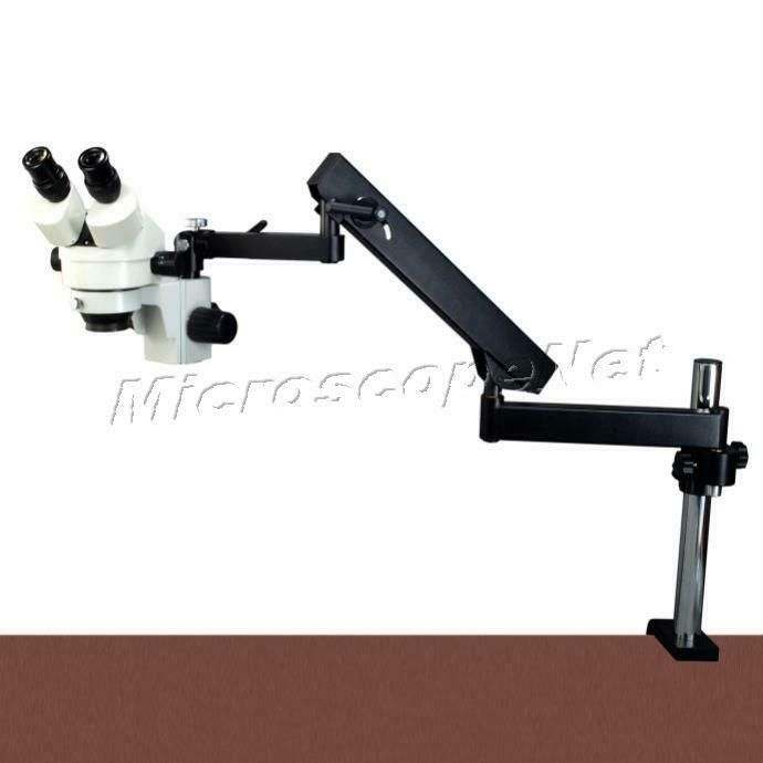Sponsored Ebay 7x 45x Stereo Microscope Articulating Arm Stand 6w Dual Head Gooseneck Led Light Led Ring Light Stereo Microscope Led Ring