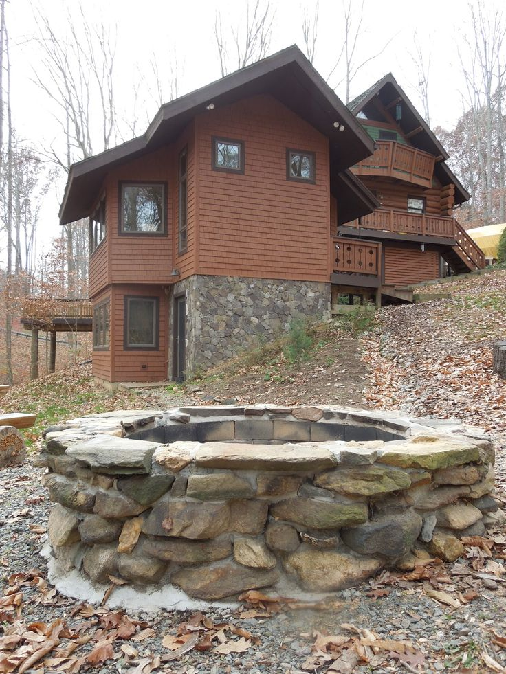 Rustic Fire Pit | Firepit and Rustic Chairs