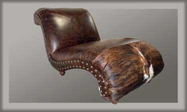 Hill Country Western Chaise Lounge Western Sofas and Loveseats.  Custom widths; custom orders