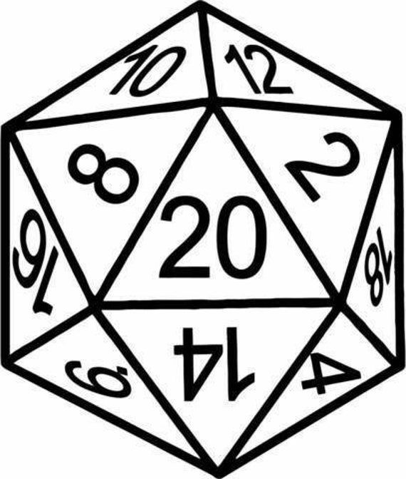 D20 Die Decal In 2021 Dungeons And Dragons Art Dungeons And Dragons Dice 20 Sided Dice