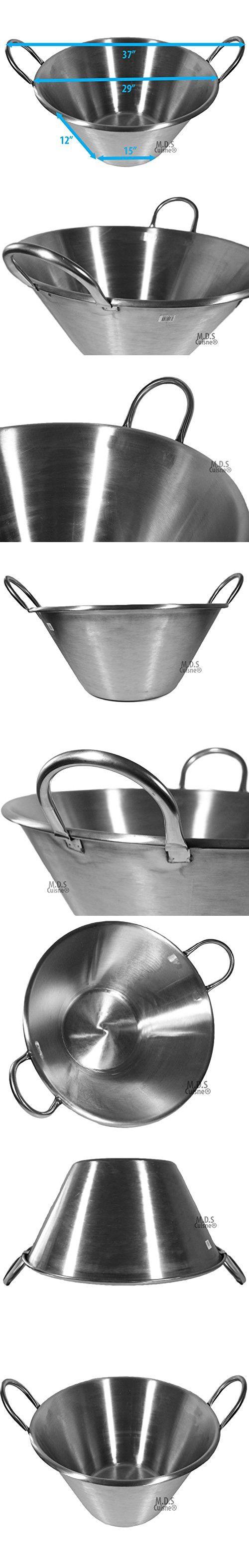 "XXL Cazo Stainless Steel 29""Inch Caso para Carnitas Heavy Duty Wok Acero NEW"