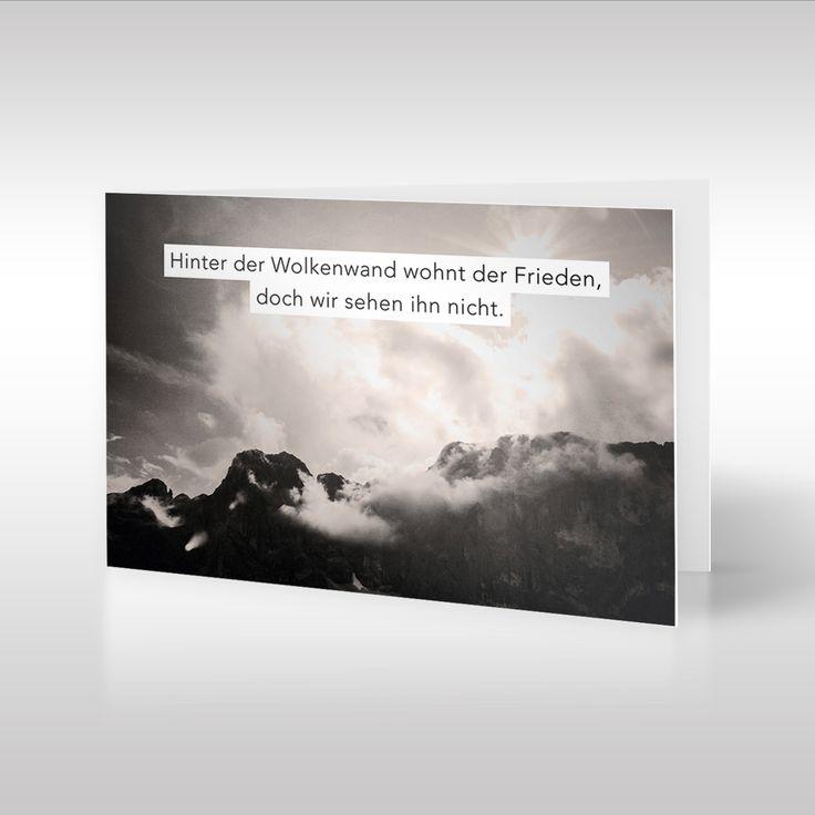 Die Landschafts Fotografie Von Tom Zilker Auf Dieser Trauerkarte Ist In  Sepia Tönen Gehalten