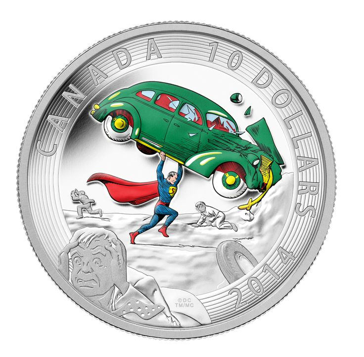 2014 1/2 oz. Fine Silver Coin - Iconic Superman™ Comic Book Covers: Action Comics #1 from 1938. Commemorates the debut of Superman as he appeared on the cover of Action Comics #1 in 1938.