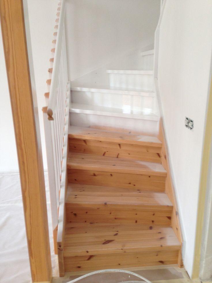 Sprutlackering av trappa