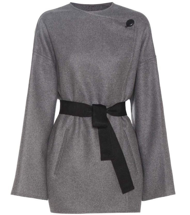 Isabel Marant Manteau gris en laine et cachemire mélangés