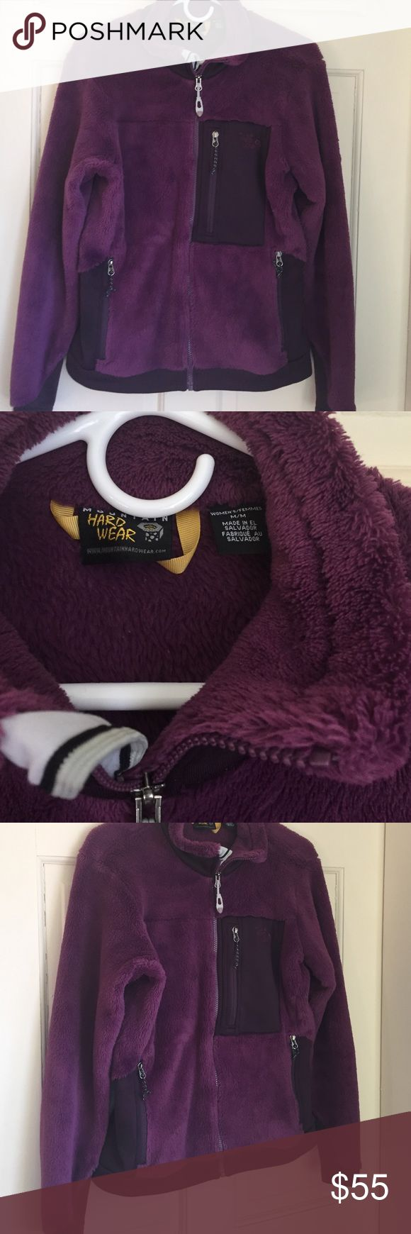 Mountain Hardware Women's Fleece jacket This gorgeous deep purple fleece zip up is so soft and cozy you'll want to cuddle up and fall asleep in it.                                                                Women's Medium.  Worn less than a half dozen times! Mountain Hard Wear Jackets & Coats