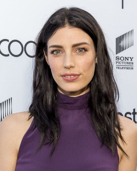 Jessica Pare Long Center Part - Jessica Pare attended the Sony Pictures Social Soiree wearing a slightly messy center-parted 'do.