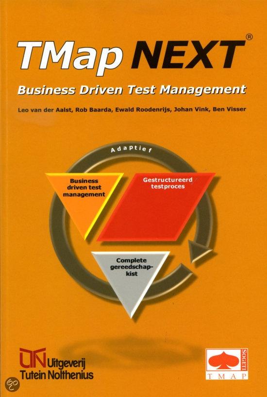 Dit boek biedt de business- en IT-manager inzicht in de zakelijke sturingsmogelijkheden van het testproces: Business Driven Test Management (BDTM). BDTM stelt het resultaat voorop en geeft de opdrachtgever van het testproces de mogelijkheid de afdekking van de risico's, de doorlooptijd en de kosten van het testproces te besturen, zowel in de planningfase als in de uitvoeringsfase. Tevens bevat dit boek een inleiding en samenvatting van de Test Management approach TMap NEXT®.
