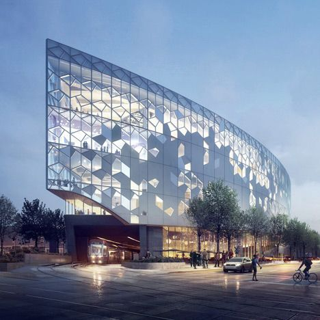 Snøhetta reveals proposal to build a library around a Calgary railway line