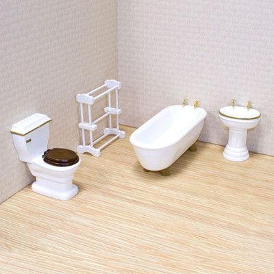 Melissa and Doug Dollhouse Bathroom Furniture | Wayfair
