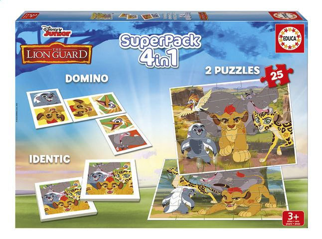 Afbeelding van Spellendoos 4-in-1 Disney The Lion Guard from DreamLand