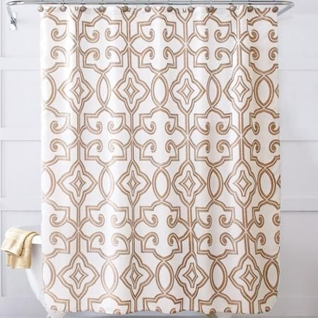 Better homes and gardens irongate shower curtain home is where the heart is pinterest for Better homes and gardens shower curtains