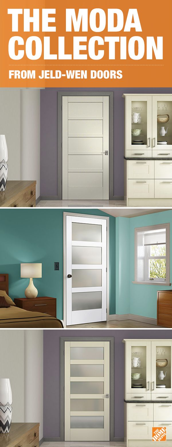 Known for simplicity and clean lines, the MODA Collection of interior doors complements any decor style. With 21 designs to choose from that can be applied to a solid panel, translucent glass, mirror panel or clear glass door, you're sure to find the right door to bring your home's look to life.  Click to explore your interior door options.