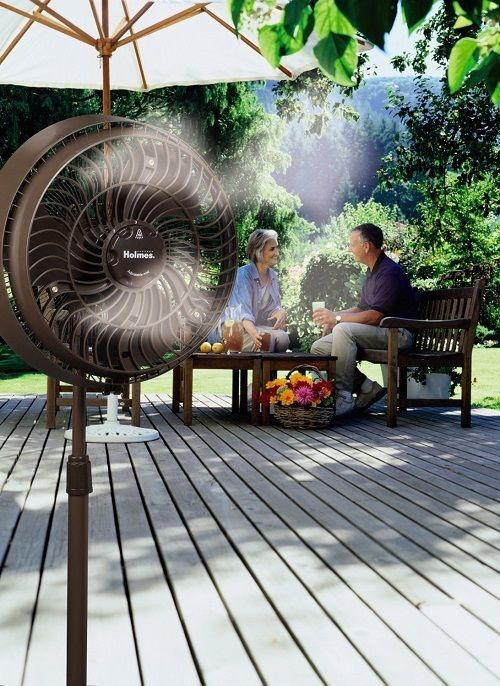 outdoor misting fan system with 3 speed settings outdoor patio mister on sale - Outdoor Misting Fan