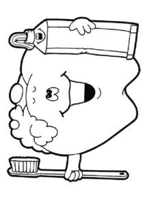 body hygiene coloring pages   29 best tanden poetsen images on Pinterest   Oral hygiene ...