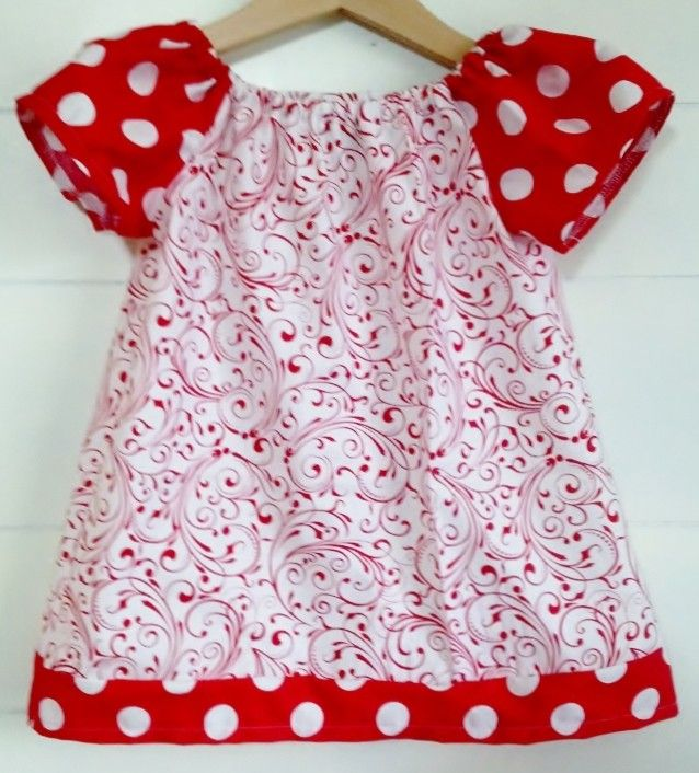 Sandlwood Peasant Dress - Flourish in Red - Babies & Kids